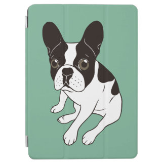 Cute double hooded pied Frenchie is chilling iPad Air Cover