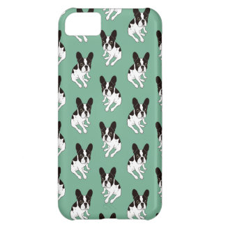 Cute double hooded pied Frenchie is chilling iPhone 5C Case
