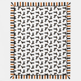 Cute Doxies Dachshund Pattern Blanket