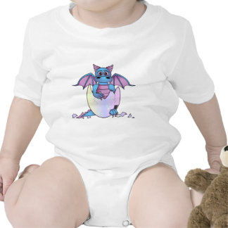 Cute Dragon Baby in Cracked Egg - Blue Purple Tee Shirt