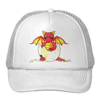 Cute Dragon Baby in Cracked Egg - Red / Yellow Hats