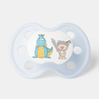 Cute Dragon & Knight Baby Pacifier
