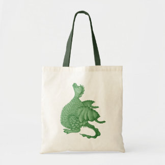 cute dragon mythical and fantasy creature art budget tote bag