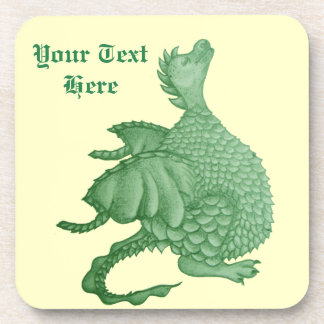cute dragon mythical and fantasy creature art drink coasters