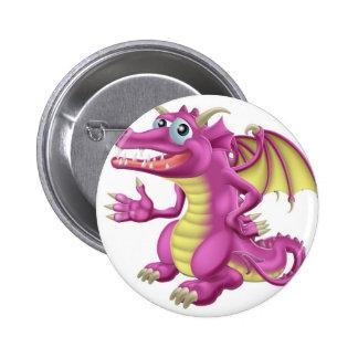 Cute Dragon Pinback Button