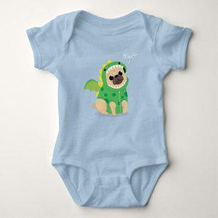 3b9af1e6a Cute Pug Baby Clothes & Shoes | Zazzle AU