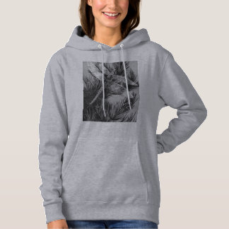 Cute Dragonfly and Pine Tree Needles Designed Hoodie
