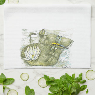 Cute Dragonfly & Lilly Pad Kitchen Cloth Kitchen Towels