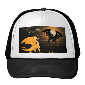 Cute dragons trucker hats