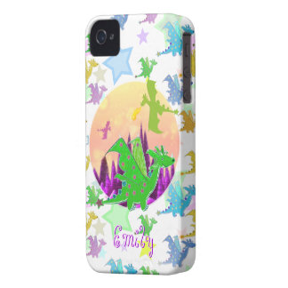 Cute Dragons Pattern customizable name Emily Case-Mate iPhone 4 Cases