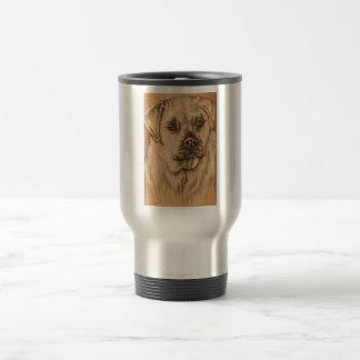 Cute Drawing of White Labrador Dog Mug