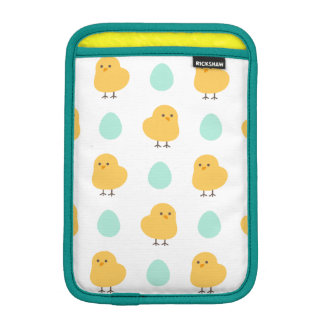 Cute drawn yellow chick and egg easter pattern iPad mini sleeve