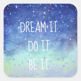 Cute Dream It Do It Be It Starry Night Sky Sticker