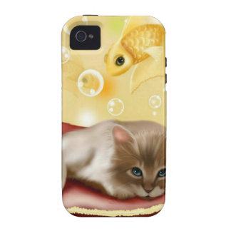 Cute Dream Kitten Case-Mate iPhone 4 Covers
