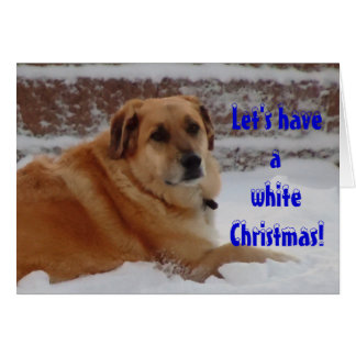 Cute Dreaming of White Christmas Snow Angel Card