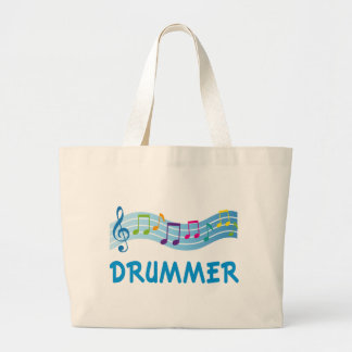 Cute Drummer Staff Large Tote Bag