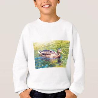 Cute Duck Swimming Sweatshirt