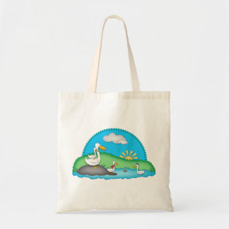 Cute Ducks at the Pond Budget Tote