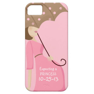Cute Due Date Gender Reveal Pregnant Woman iPhone 5 Case