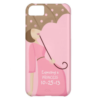 Cute Due Date Gender Reveal Pregnant Woman iPhone 5C Case