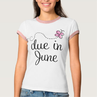 Cute Due In June Announcement T-shirt