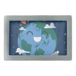 cute Earth Day Rectangular Belt Buckle