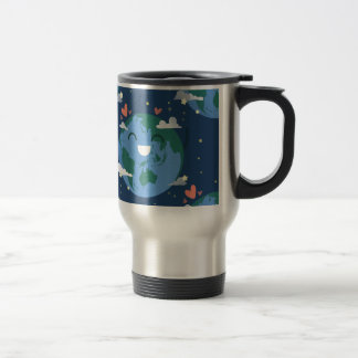 cute Earth Day Travel Mug