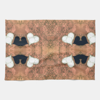 Cute Earthy Heart Abstract Kitchen Towels
