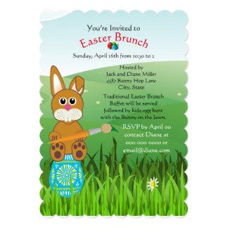 Cute Easter Brunch and Egg Hunt Invitation