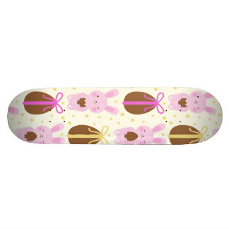 Cute Easter bunnies and chocolate eggs pattern 20 Cm Skateboard Deck