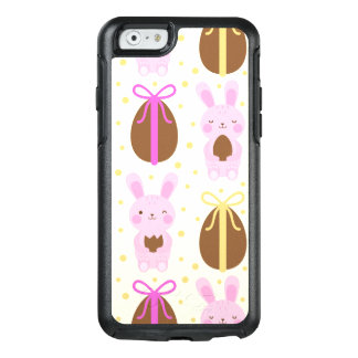 Cute Easter bunnies and chocolate eggs pattern OtterBox iPhone 6/6s Case