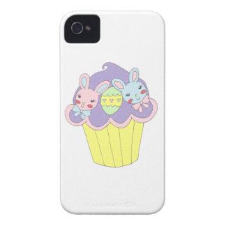 Cute Easter Bunnies Cupcake Case-Mate iPhone 4 Cases