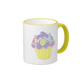 Cute Easter Bunnies Cupcake Ringer Mug
