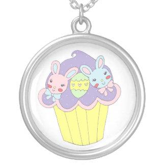 Cute Easter Bunnies Cupcake Custom Necklace