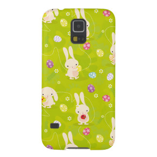 Cute easter bunnies on a meadow galaxy s5 case