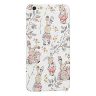 Cute Easter Bunnies Watercolor Pattern