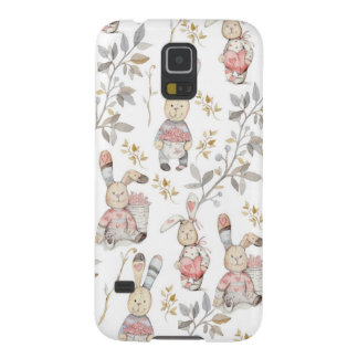 Cute Easter Bunnies Watercolor Pattern Galaxy S5 Cover