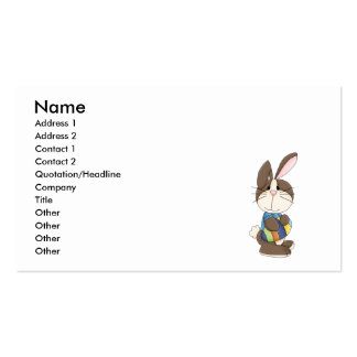 cute easter bunny and easter egg business card templates