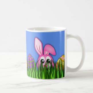Cute Easter Bunny and Eggs in Grass Classic Mugs