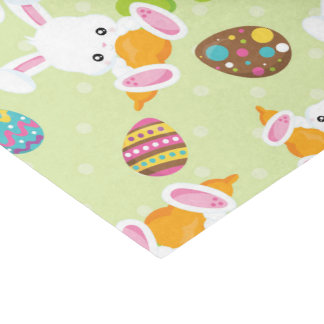 Cute Easter bunny and eggs pattern party tissue Tissue Paper