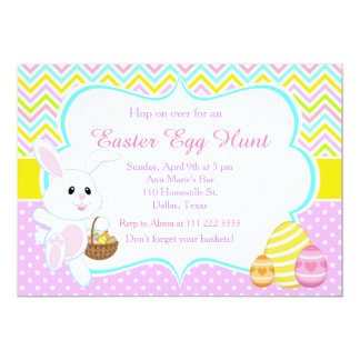 Cute Easter Bunny Easter Egg Hunt 13 Cm X 18 Cm Invitation Card