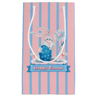 Cute Easter Bunny Gift Bag - Small, Glossy
