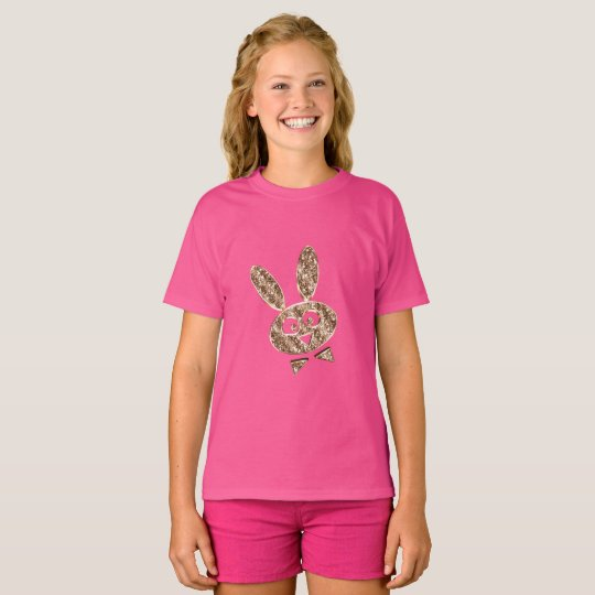 Cute Easter Bunny Gold Look T-Shirt