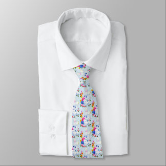 Cute Easter Bunny Holiday tiled tie