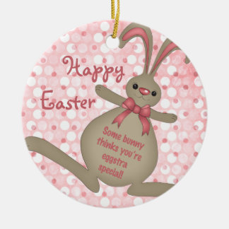 Cute Easter Bunny Rabbit Easter Ornament