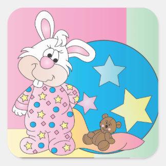 Cute Easter Bunny Square Sticker