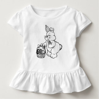 Cute Easter Bunny with Easter Egg Basket Toddler T-Shirt