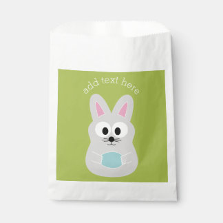 Cute Easter Bunny with Egg and Custom Name Favour Bags