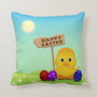 Cute Easter Chick with Sign - Pillow