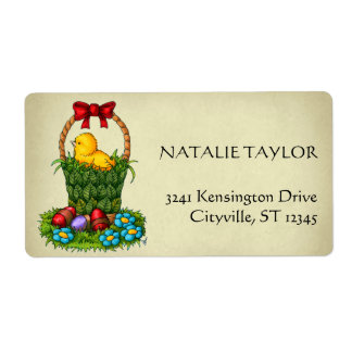 Cute Easter Chicken Shipping Label